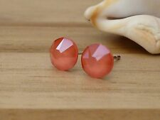 Genuine Austrian Crystal Surgical Stainless Steel Studs 6.4mm ~ Light Coral