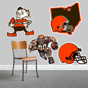 Cleveland Browns Wall Art 4 Piece Set Large Size------New in Box------