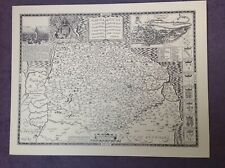 NORFOLK 1610 by John Speed - Uncoloured