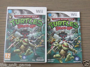 JEU NINTENDO WII / WII U  TEENAGE MUTANT NINJA TURTLES SMASH UP  EN FRANCAIS