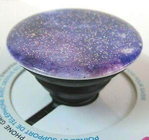 PopSockets Phone Grip Stand Purple Glitter Nebula PopGrip PopSocket