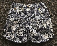 LAUREN RALPH LAUREN Women Dressy Casual Shorts Navy/ White Size 6 #A8 Mint!