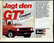 Revell-- Revell Plastics GmbH-- Golf GTI -- Jagt den GTI --Werbung von 1980--