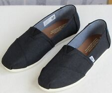6 | TOMS Seasonal Classic Women Black Canvas Fabric Slip-On Ballet Flat Loafer