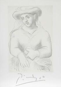 Pablo Picasso, Femme au Chapeau et au Missel, Lithograph