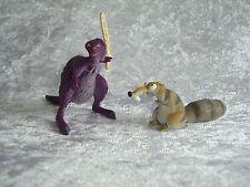 """Ice Age 4 2 Sammelfiguren Figuren Figur """"Scrat"""" + """"Rasmussen"""""""