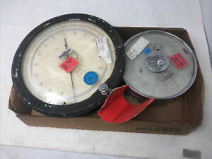 LOT OF 2 PSI, BAROMETER GAUGES- HEISE, PRECISION MICRO - FOR PARTS, STEAMPUNK