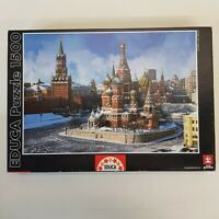 Educa 1500 Piece Jigsaw Puzzle 14815 Saint Basil's Cathedral Moscow - Complete