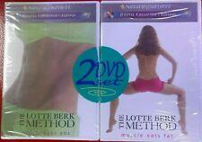 NEW SEALED Set-2 LOTTE BERK METHOD EXERCISE DVDs Hip Hugger Abs MUSCLE EATS FAT