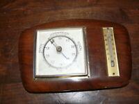 über 50 Jahre alter Bachometer mit Thermometer gemarkt T.T. Messinrahmen