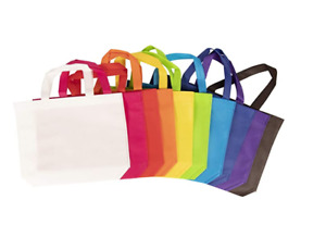Reusable Grocery Tote Bag Large 50 Pack- Multiple Colors and Size