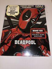 Deadpool 2-Year Anniversary 4K Blu-Ray Best Buy Steelbook NEW Tattoos Decals