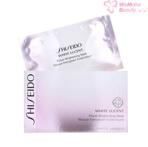 Shiseido White Lucent Power Brightening Mask 6 sheets New In Box