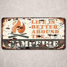 LP0106 Campfire Sign Auto License Plate Rust Vintage Home Store Decor
