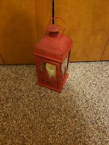 Red Lantern with fake candle