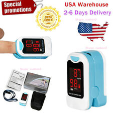 NEW Fingertip Pulse Oximeter Blood Oxygen SPO2 Meter Monitor,Pouch,Lanyard LED