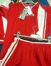 Stock KIT CALCIO LEGEA  modello ajaccio  adulto taglia M colore rosso-bianco
