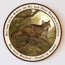 Wildkater auf dem Raube Deiker Wildkatze Schützenscheibe 55cm Wunschtext 82