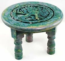 """Round Tree of Life Altar Table 6"""", Wiccan Altar Supply Ceremonial"""