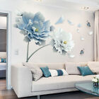 Lotus Flower Butterfly Removable Wall Stickers DIY Art Decal Home Decor Mural