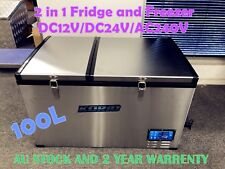 100L Portable Freezer/Fridge Camping Car Boat Caravan Truck Cooler 12V/24V/240V