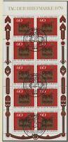 BUNDESREPUBLIK 1979 Tage der Briefmarke Kleinbogen mit ESST