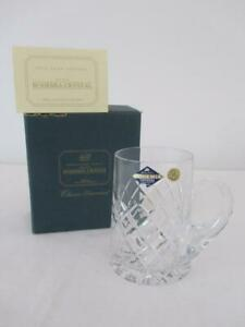 UNUSED BOHEMIA Hand Cut Lead Crystal BEER MUG Boxed