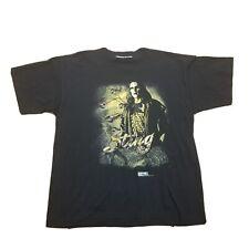 Vintage 1998 WCW NWO Sting T-Shirt Size XXL Black Gold 3D Lettering
