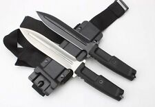 12'' New ABS Handle Double Boot Blade Dagger Survival Bowie Hunting Knife VTH71