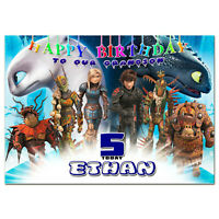 b472; Great Personalised Birthday card *Any name age text* How to Train Dragon 3