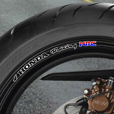 8 x Honda Racing Hrc Wheel Rim Stickers fireblade cbr vfr