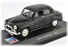 W58 Simca Aronde 1952 1/43 Scale Black New in Display Case
