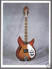 1965 RICKENBACKER 360-12 Classic Guitars PHOTO POSTCARD