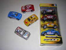 Lot de 4 petites voitures miniatures 8 cm roues libres type 4x4 paris dakar NEUF