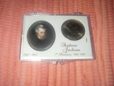 "U S PRESIDENTIAL ""GOLD"" DOLLAR COIN PRESIDENT ANDREW JACKSON COLLECTOR CASE 2008"