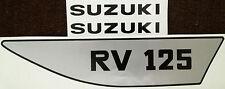 Suzuki RV125 restauración DECAL set