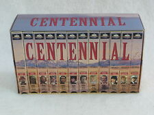 CENTENNIAL 12 VHS Tapes Boxed Set   MCA Universal 1995