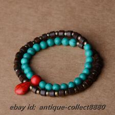 Tibetan Style Optimizing Turquoise/Wood/Copper Bead Tibetan Decoration Bracelet