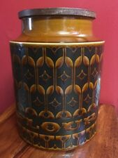 Hornsea Brown Heirloom 1976 Vintage Large Flour Jar, VGC.