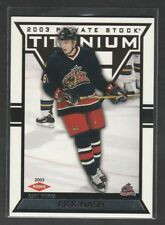 2002-03 Titanium Rick Nash Rookie Card 899/1475