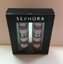 "Sephora Lovely Lips Lip Balm Duo ""Saumon & Rose Clair""—2x 3g/0.106oz BINB"