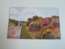 A R QUINTON Postcard 3234 Herbaceous Border Rotten Row Southport  1932  §A2383