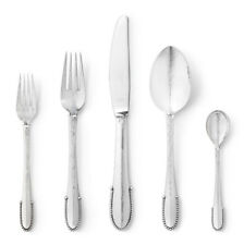 Georg Jensen Sterling Silver Flatware 20 pcs. Set - Beaded / Kugle - NEW