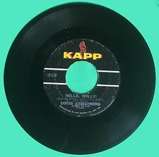 """Louis Armstrong """"Hello, Dolly"""" """"A Lot of Livin' To Do"""" 45 RPM  RECORD"""