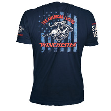 Winchester American Legend Stars Stripes US Flag Vintage Graphic T-Shirt for Men