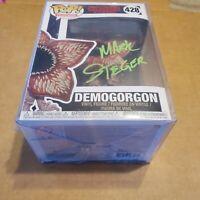 Mark Steger Autograph Funko POP #428 Stranger Things Demogorgon Signed JSA COA