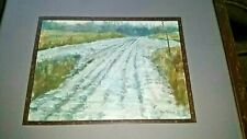 "Dan Tehan Reidsville, NC artist ""Country dirt road"" 2012 oil painting EC!"