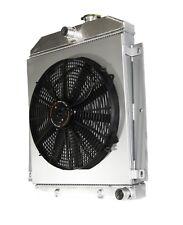 """3 Core Radiator+16"""" Fan+Shroud fits 47-54 Chevy Truck I6 3100 3600 3800"""