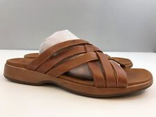 Timberland Smart Comfort System Brown Braided Leather Slide Sandals Women's 9M