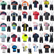 Team Cycling Jersey Bib Shorts Mens Set MTB Sport Clothing Bike Shirt+Short Suit